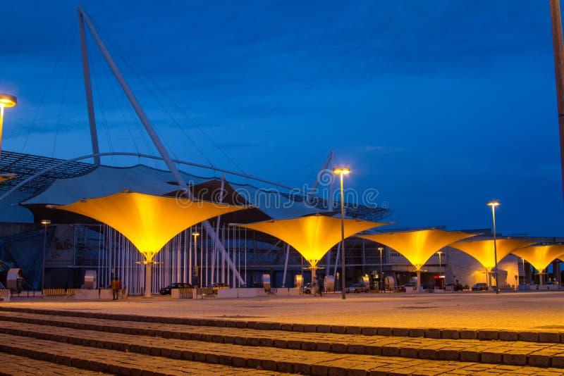 Międzynarodowy jarmark Lisbon w parku narody obrazy royalty free