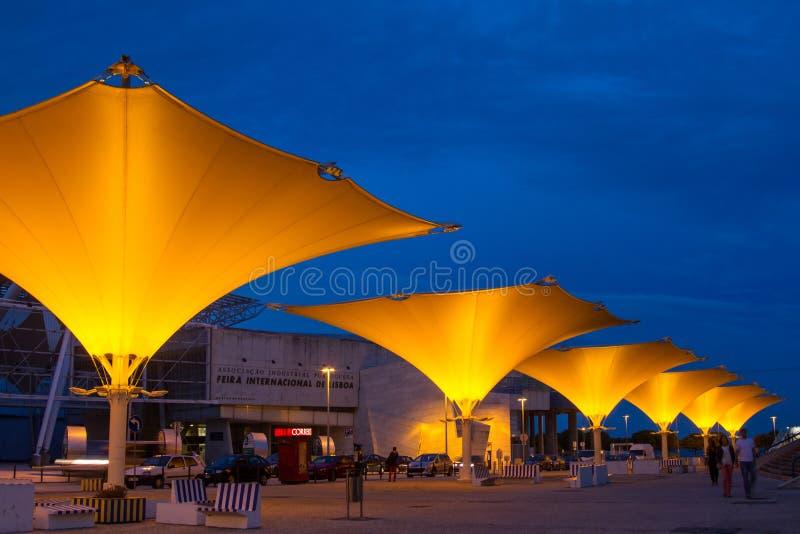 Międzynarodowy jarmark Lisbon w parku narody zdjęcia royalty free
