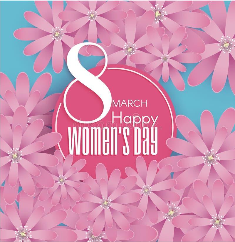 Międzynarodowy kobiety ` s dzień 8 Marzec ilustracji