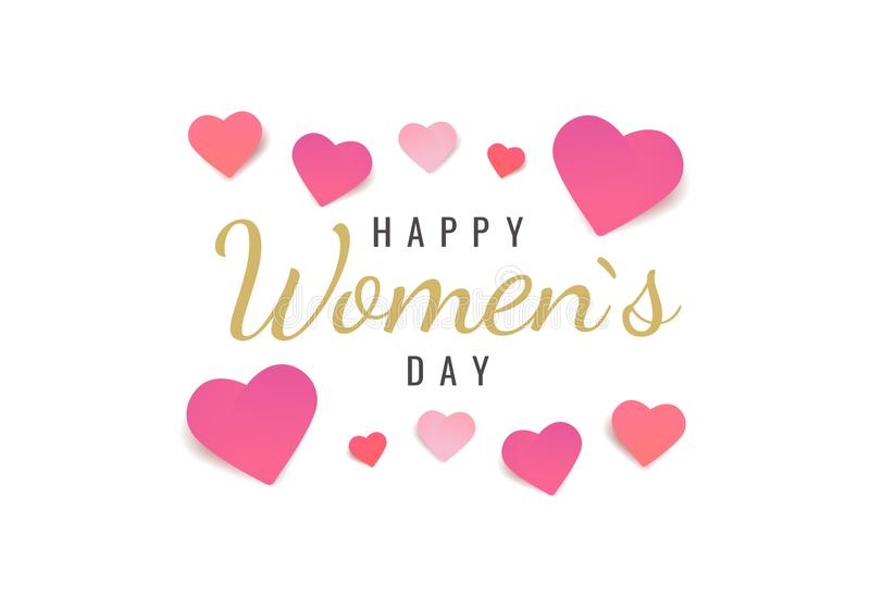 Międzynarodowy kobiety ` s dzień ilustracja wektor