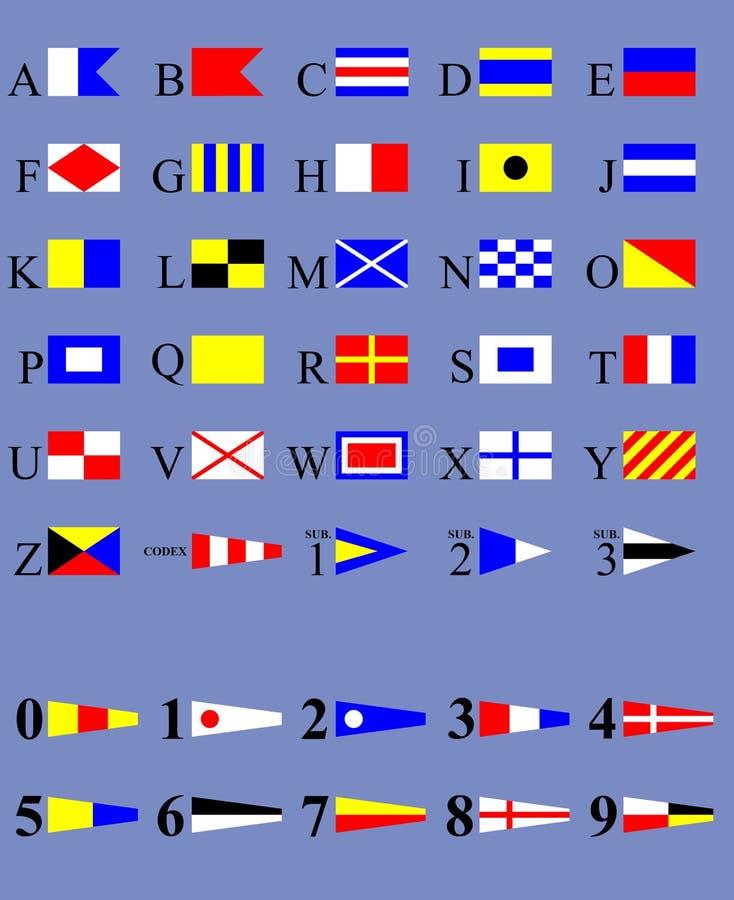 międzynarodowy kod sygnały royalty ilustracja