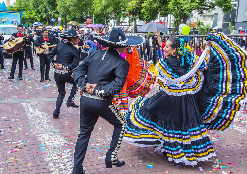 Międzynarodowy Mariachi & Charros festiwal fotografia stock