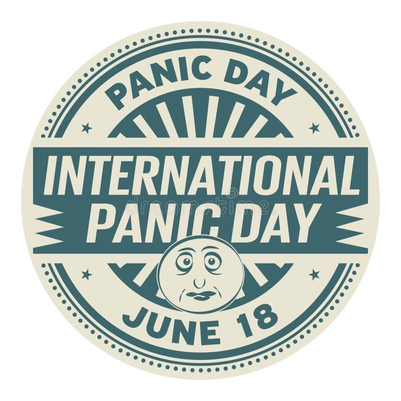Międzynarodowy panika dzień royalty ilustracja