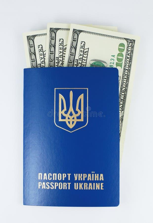 Międzynarodowy paszport z pieniądze fotografia royalty free
