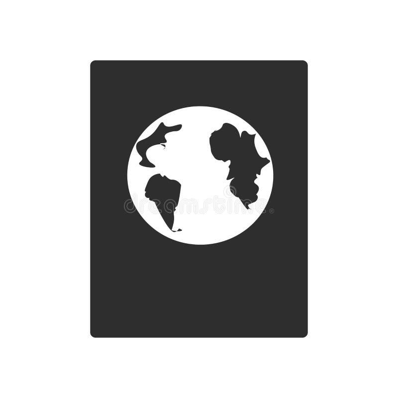 Międzynarodowy paszportowy ikona wektoru znak i symbol odizolowywający na białym tle, Międzynarodowy paszportowy logo pojęcie ilustracja wektor