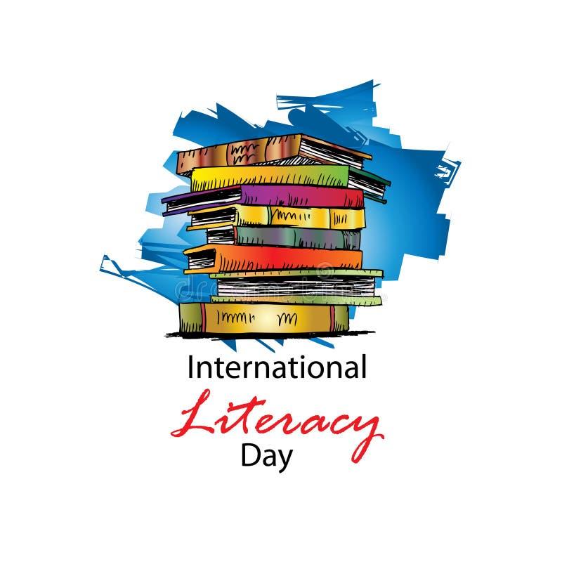 Międzynarodowy piśmienność dzień royalty ilustracja