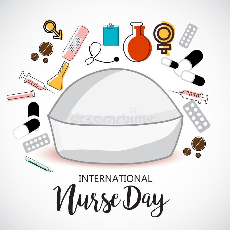 Międzynarodowy pielęgniarka dzień ilustracji