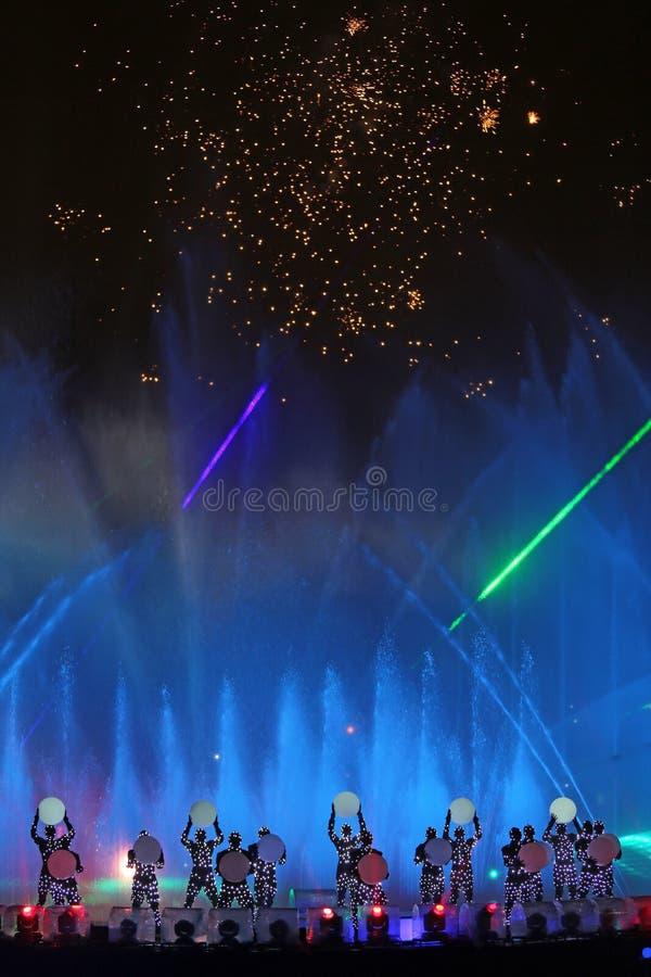 Międzynarodowy przedstawienie okrąg światło w Moskwa zdjęcia royalty free
