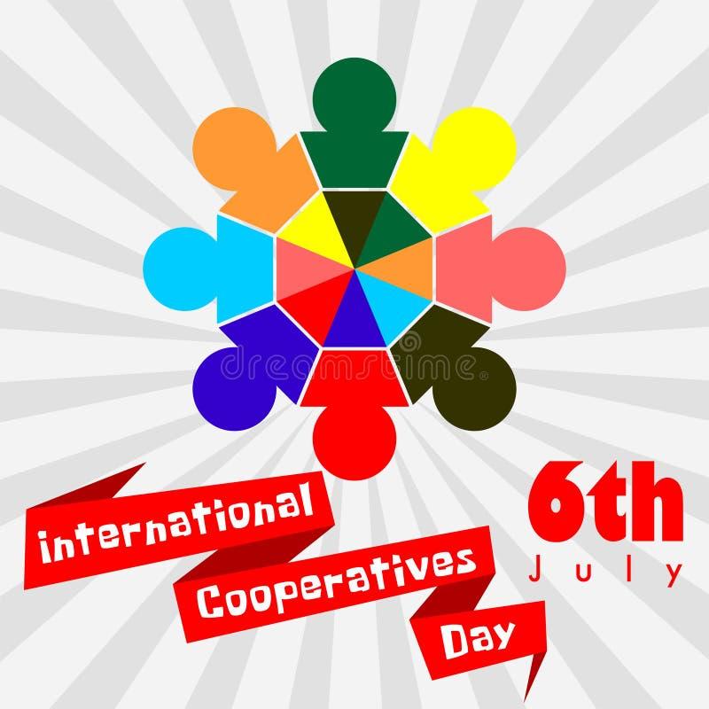 Międzynarodowy spółdzielnia dzień ilustracji