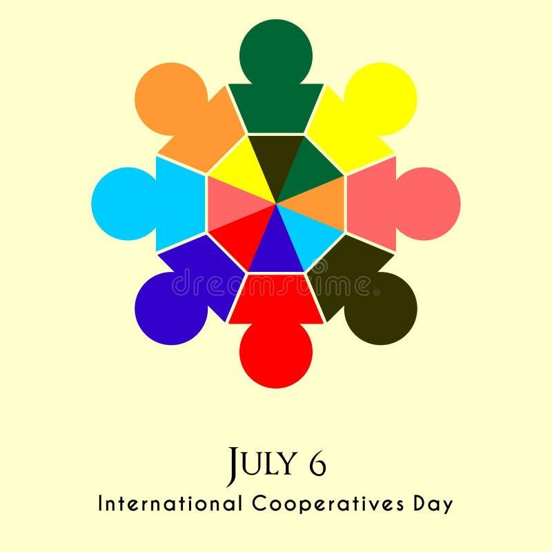 Międzynarodowy spółdzielnia dzień royalty ilustracja