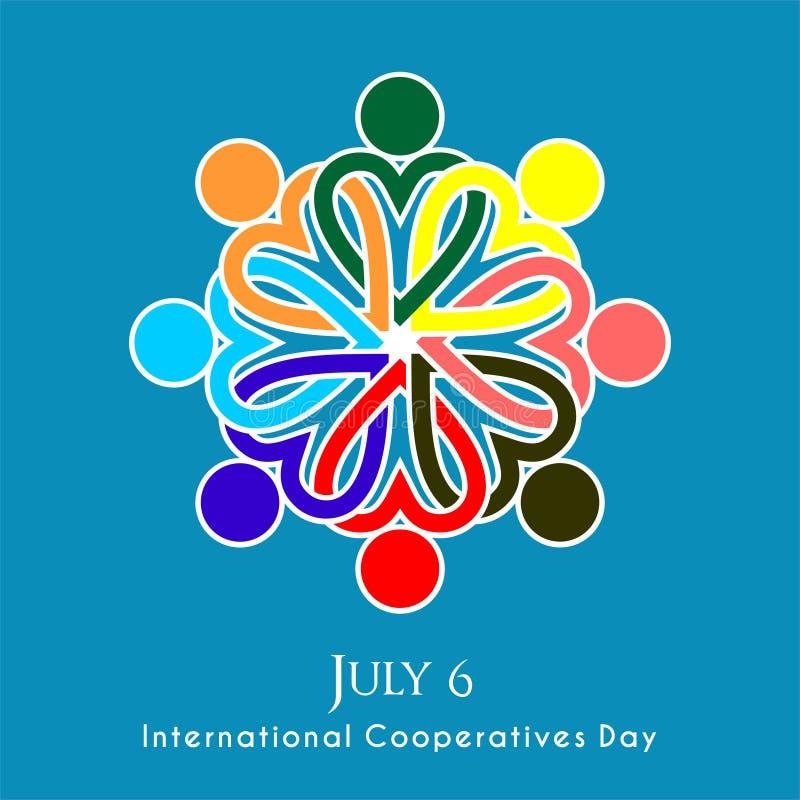 Międzynarodowy spółdzielnia dzień ilustracja wektor