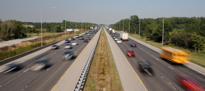 międzystanowy ruch drogowy fotografia stock