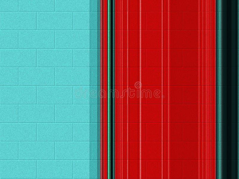 Miękcy błękitni czerwonej cegły kolorowi światła, geometrie, kolory, pastelowy tło, grafika, abstrakcjonistyczny tło i tekstura, ilustracji