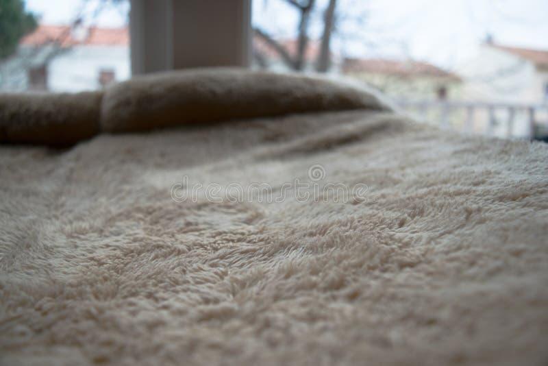 Miękka część textured powierzchnia na poduszce obraz stock
