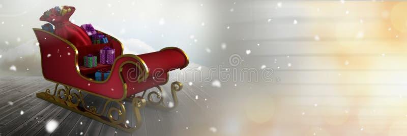Miękka część zamazywał przemianę Santa ` s sanie ilustracja wektor