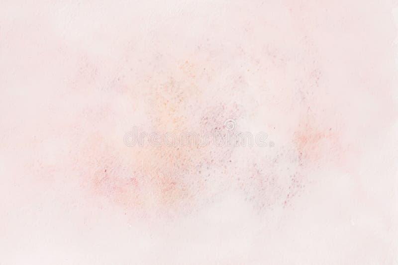 Miękka kompleks menchii koloru akwareli plama akwarela papier Abstrakcjonistyczny pociągany ręcznie wizerunek dla układu, szablon obrazy stock