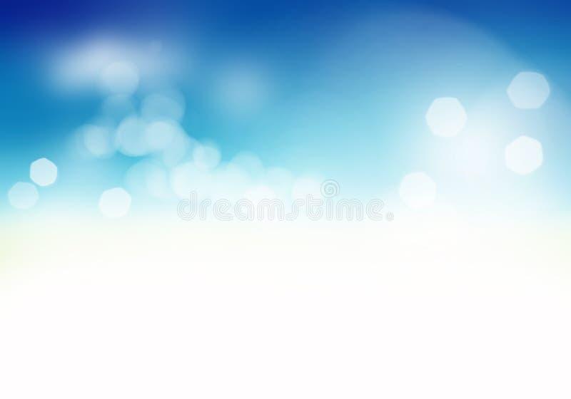 Miękki błękitny abstrakcjonistyczny tło zdjęcia royalty free