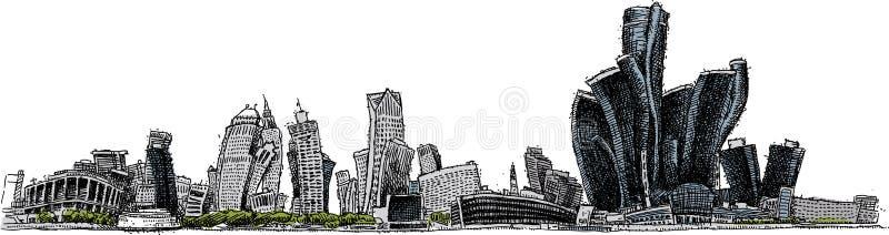 Miękki Detroit royalty ilustracja