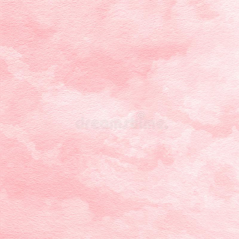 Miękki koralowy czerwony akwareli tekstury tło, ręka malująca ilustracja wektor