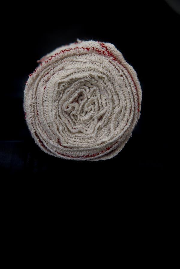 Miękki tkankowy sanitarny bandaż dla przerw, ran i unieruchomień, fotografia stock
