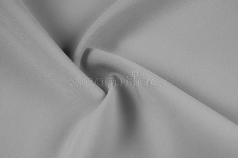 miękkie ogniska, Tekstura, wzór Czarna szara jedwabnicza tkanina Migotanie, s zdjęcie royalty free