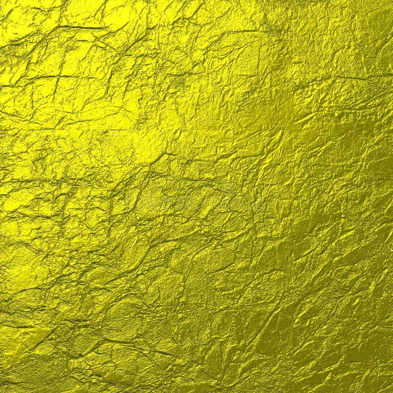 Miękkiego złota tekstury Zmięty tło zdjęcie stock