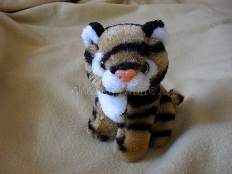 Miękkiej części zabawki pasiasty tygrys obraz stock