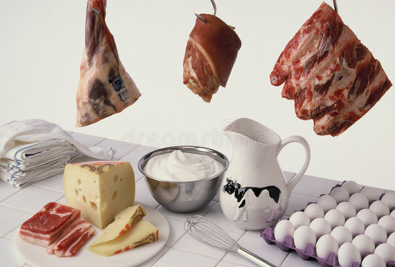 mięsa, mleka zdjęcie royalty free