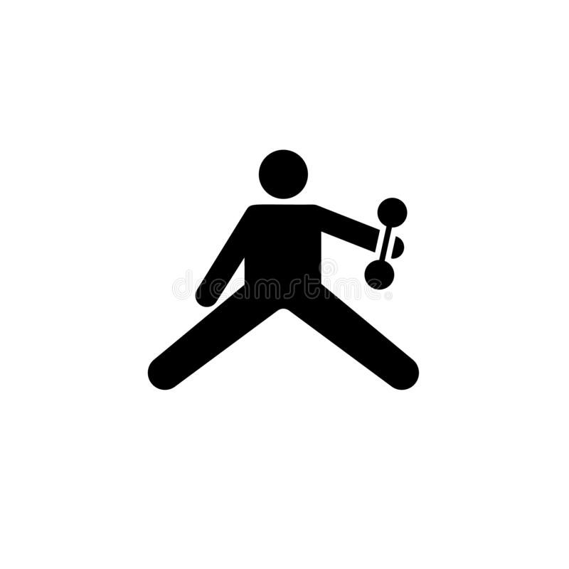 Mięsień, ćwiczenie, sporty, mężczyzna, gym ikona Element gym piktogram Premii ilo?ci graficznego projekta ikona podpisz symboli royalty ilustracja