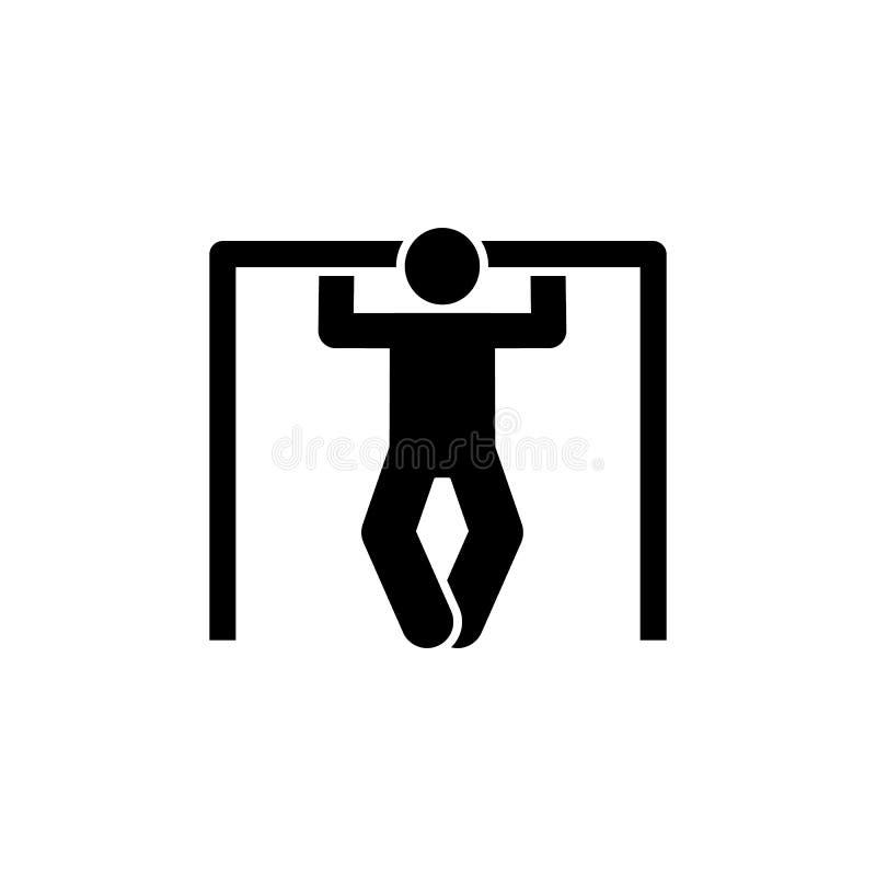Mięsień, gym, sprawność fizyczna, mężczyzna, stażowa ikona Element gym piktogram Premii ilo?ci graficznego projekta ikona podpisz royalty ilustracja