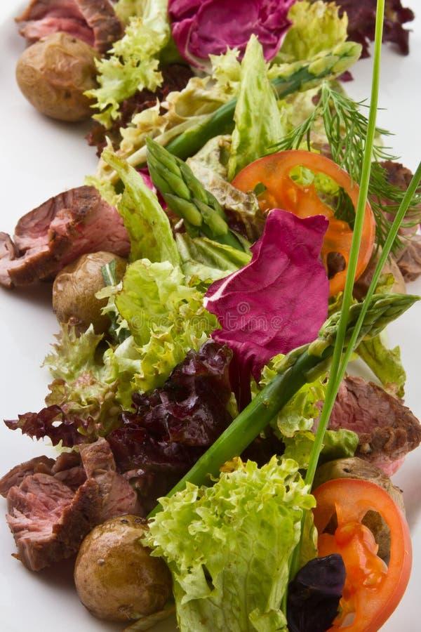mięsna sałatka fotografia stock
