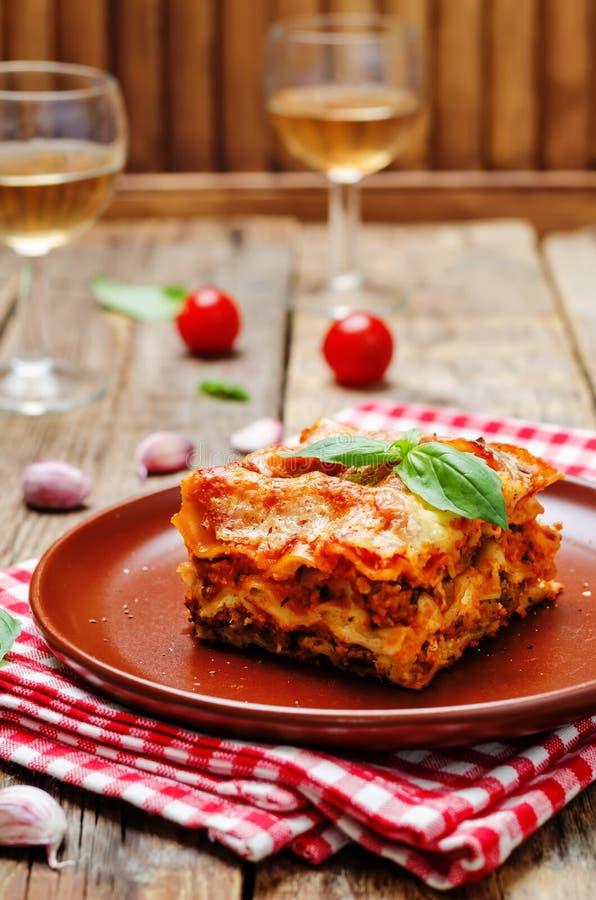 Mięsny Lasagna obrazy royalty free