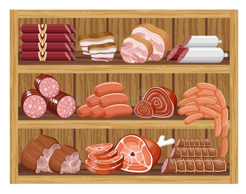 Mięsny rynek. royalty ilustracja
