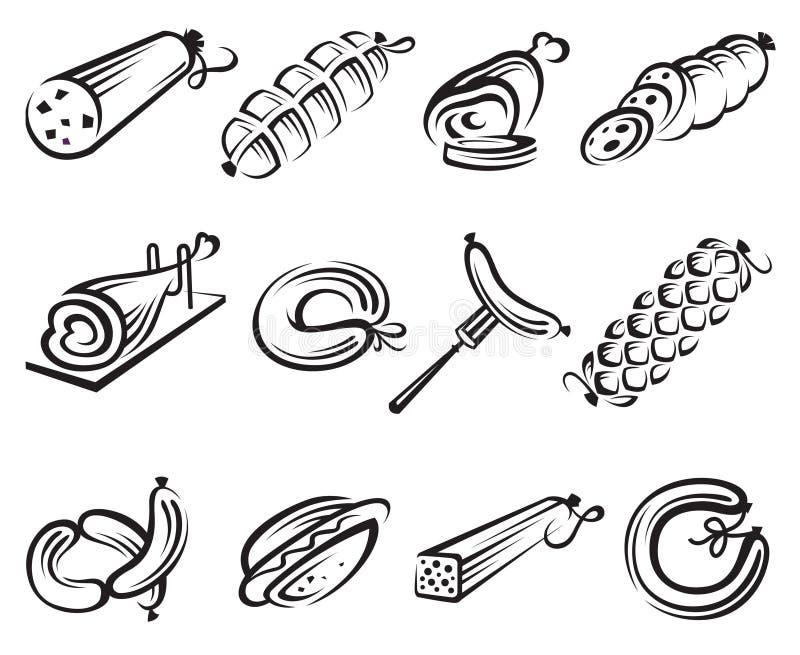 mięsny set ilustracja wektor