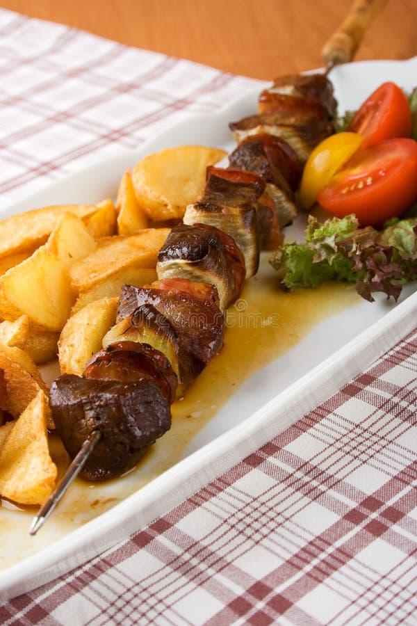 mięsny skewer fotografia stock