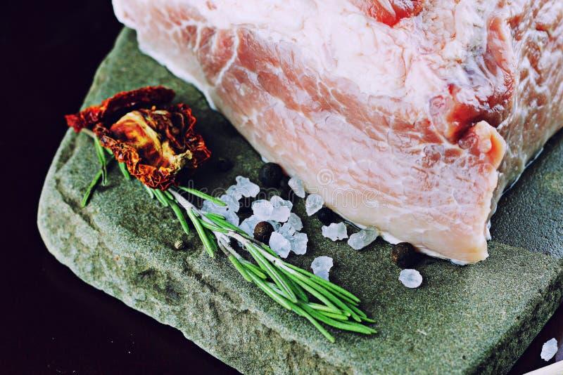 Mięsny surowy pikantność pieprz zdjęcia royalty free