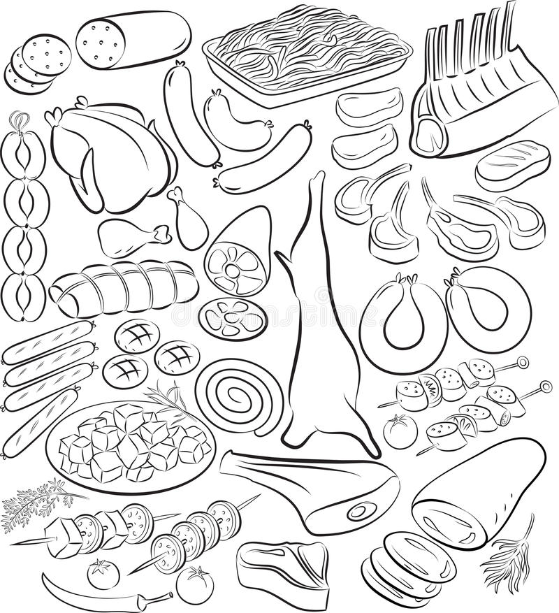 mięso royalty ilustracja