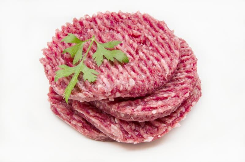 Mięso dla hamburgerów obraz royalty free