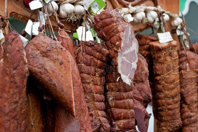 mięso dymiący zdjęcie royalty free