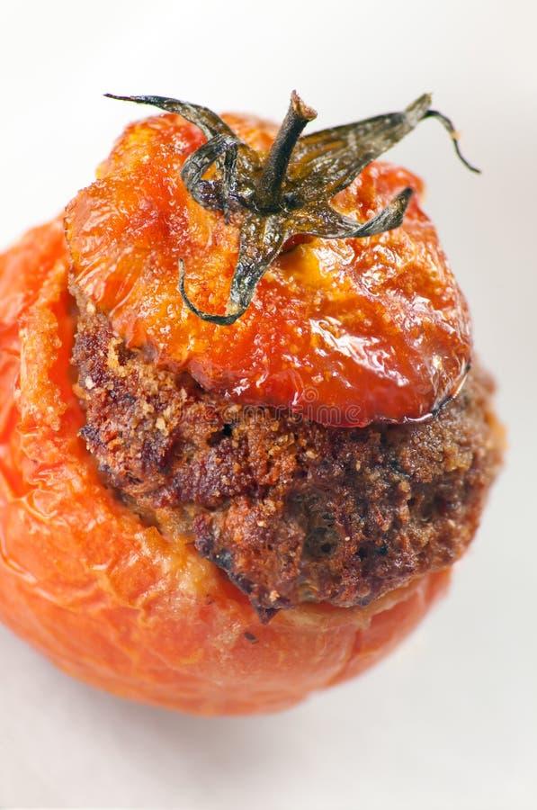 Mięso Faszerujący Pomidory Fotografia Royalty Free