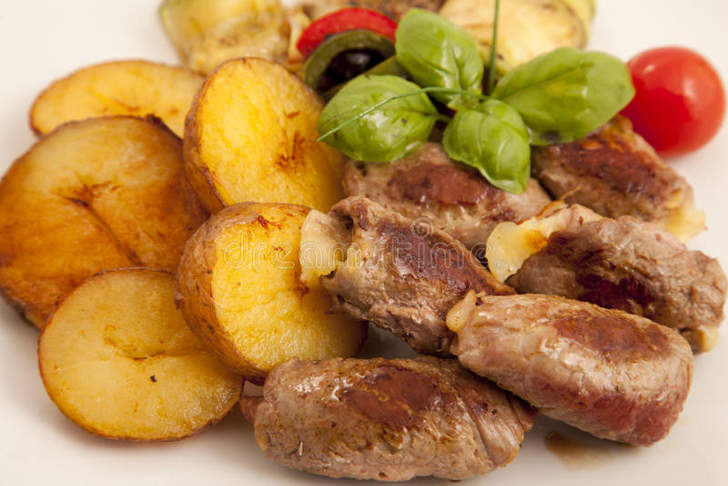 Mięso faszerujący z serem fotografia royalty free