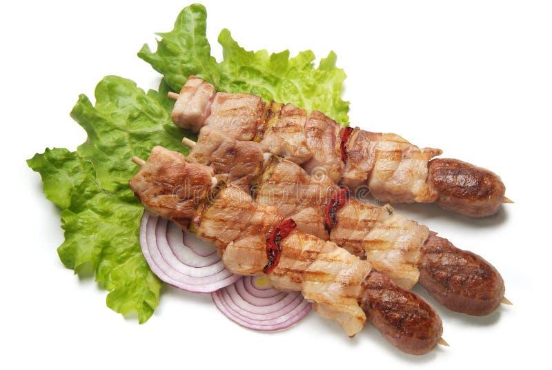 Mięso gotujący na mierzei fotografia stock