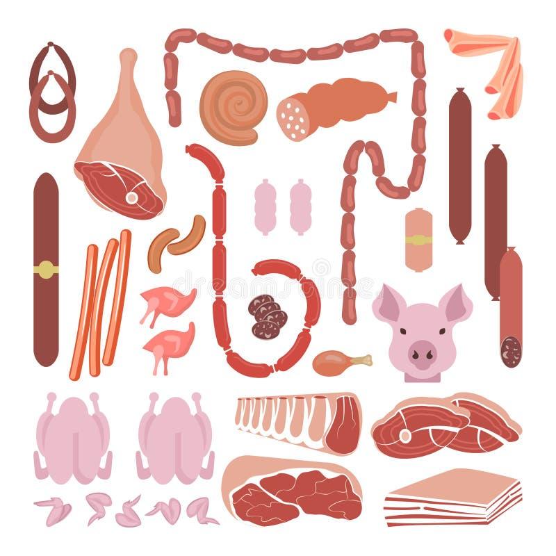 Mięso i kiełbasy Inkasowi royalty ilustracja