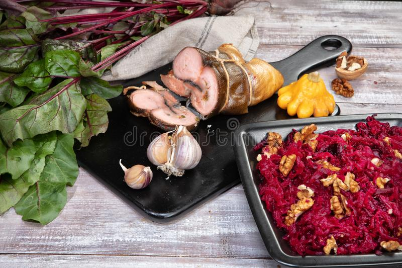 Mięso i warzywa zdjęcie royalty free