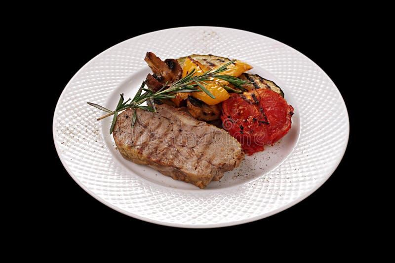 Mięso i warzywa obrazy royalty free