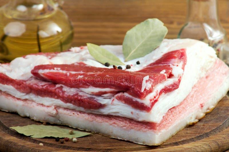 Mięso, sadło fotografia stock