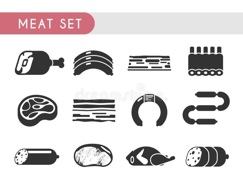 Mięso set ilustracja wektor
