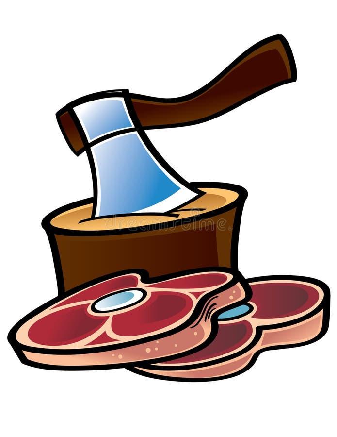 mięso surowy royalty ilustracja