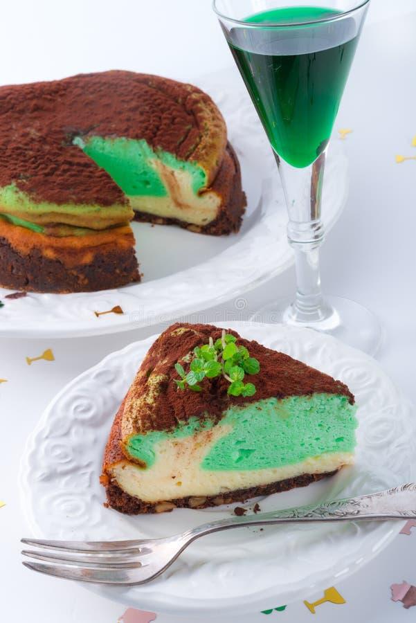 Miętówka tort obraz royalty free