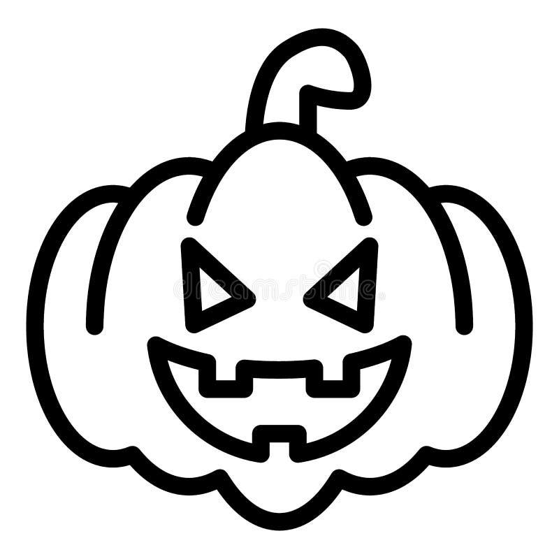 Miła bani linii ikona Halloweenowy stawia czoło wektorową ilustrację odizolowywającą na bielu Gurda z jadu, czaszki i kości kontu ilustracja wektor